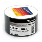 50 Traxdata Full Face Printable White CD-R 52x Discs 700MB Ritek Blank CDR discs