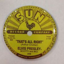 Elvis Sun Record Label Vintage Style Fridge Magnet 2 1/4""