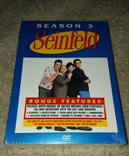 Seinfeld Complete Season 3 DVD 4 disc set NEW Factory Sealed BONUS FEATURES