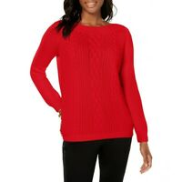 TOMMY HILFIGER NEW Women's Cable-knit Boat Neck Sweater Top TEDO