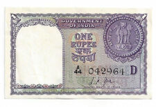 1957 Government of India, L.K. Jha - One Rupee Note - 042964
