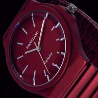 Excellanc Damen Armband Frauen Uhr Dunkel Rot Metall