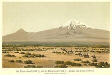 Ararat, Großer und Kleiner Berg,, Chromolithographie von ca. 1890