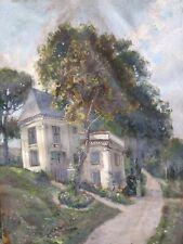 Tableau Gouache Sur Papier Maison Dans Un Jardin Vers 1900