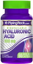 BIOAVAILABLE HYALURONIC ACID 100mg DIETARY SUPPLEMENT 60 QUICK RELEASE CAPSULES