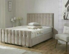 DIANA CHENILLE FABRIC UPHOLSTERED BED 3FT 4FT 4FT6 5FT - VARIOUS COLOURS - CHEAP