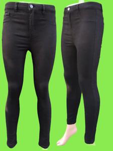 Ladies Ex Pull & Bear Stretchy Super Skinny Jeggings Leggings Plus Size 4-14