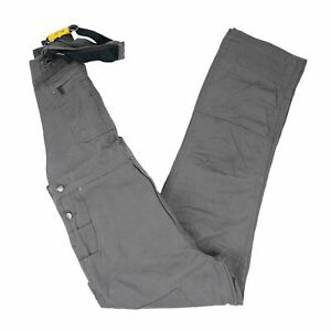 NEW Carhartt Men's Rugged Flex Relaxed Fit Canvas Bib Overall in Gravel - 38x34
