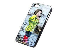 Hülle * eigenes Foto für iPhone 5 5S SE * Glanzrand Schwarz * Selbst Gestalten
