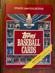 TOPPS BASEBALL CARDS 1986 UPDATE COLLECTION BOOK!
