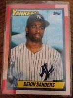 1990 TOPPS T #61 DEION SANDERS ROOKIE CARD YANKEES Prime Time Baseball MLB