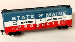 "HO Scale Bachmann Bangor & Aroostook ""Maine Products"" Box Car, EZ-Mate Couplers"