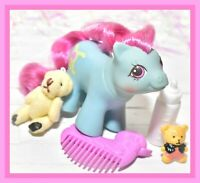 ❤️My Little Pony MLP G1 Vtg Newborn Baby Ponies SHAGGY Bottle Comb Bear❤️