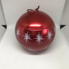 Rare Red Christmas Bauble With Secret Compartment For Surprise Gift Storage