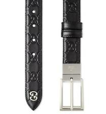 NEW GUCCI BLACK REVERSIBLE GG GUCCISSIMA LEATHER LOGO BUCKLE BELT 90/36