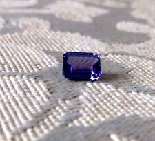 """8 x 6mm  """"A"""" Quality Natural Emerald Cut Tanzanite Gemstone 1.50 minimum carat"""