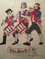 """Completed """"The Spirit of '76"""" Embroidered Patriotic American Yankee Doodle Art"""