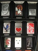 Genuine Zippo Windproof Refillable  Petrol Lighter (LIFE TIME GUARANTEE) USA