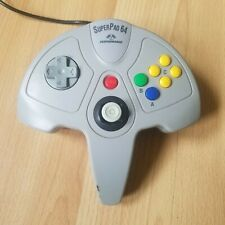 SuperPad 64 - Grey Nintendo 64 Controller Joypad Control Pad Tested And Working
