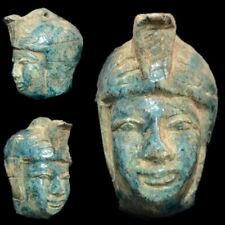 BEAUTIFUL ANCIENT EGYPTIAN BUST WITH SERPANT 300 BC