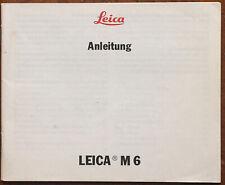 Leica M 6 - Anleitung von IV/88