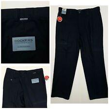 Mens Dockers Tour size 38 x 32 navy blue pleated dress pants CB14