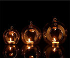 Bubble Hanging Clear Glass Tea Light Holder Candle Holder Home Decor 4Sizes