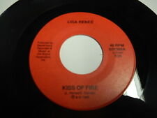 Obscure 1988 Private Philly power pop rock 45 Lisa Renee Kiss of fire Nm Listen
