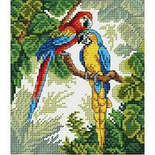 MP Studia Counted Cross Stitch Kit -  Parrots