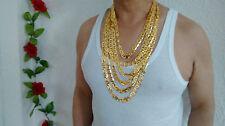 Ancla 66cm Cadena 18k Oro Lleno sin Piedra Collar & Caja,Hombre Regalo