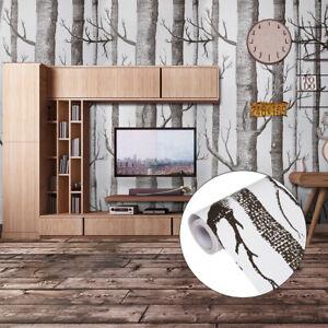 Home Cal Waterproof Self-Adhesive Paper Wallpaper,1.48 x 32.8ft - Black Tree