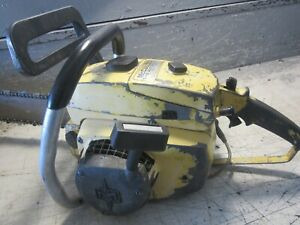 """VINTAGE COLLECTIBLE MCCULLOCH 7-10 AUTOMATIC CHAINSAW WITH 20"""" BAR"""