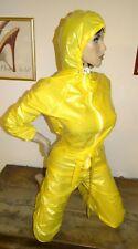 combinaison T38/40 en 100% pvc capuche neuve jaune jumpsuit catsuit overall l ef