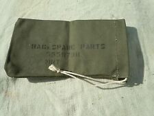 NOS MILITARY SPARE PARTS BAG IN ORIGINAL PACKAGE DATED 1953--- 10 X 5-1/2 INCHES