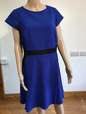 South Blue And Black Dress Size 18 BNWT Great For Office