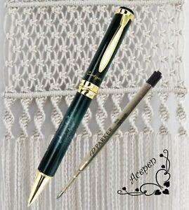 Free ship Cotyer V8 HQ Ball point pen Black/w GREY + PARKER refill BLACK ink