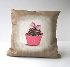 """Housse de coussin motif """"cupcake """" décoration girly"""