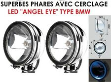2 SUPER PHARES 16CM+ LED! CHROME 4X4 LAND CRUISER PAJERO L200 PATROL JEEP HDJ