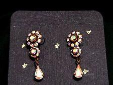 Vintage Style Handmade Crystal Dangling Earrings