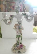 A FINE ANTIQUE BIG PORCELAIN CANDELABRA WITH ANGEL - BY  (AR#11 )