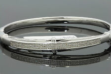.53 CARAT WOMENS WHITE GOLD FINISH 100% REAL GENUINE DIAMOND BRACELET BANGLE