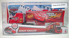 "Disney Pixar CARS Mattel MACK HAULER #95 ""LIGHTNING McQUEEN'S TRUCK"" New in Pack"