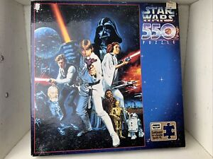 STAR WARS ROSE ART PUZZLE 550 1996 COMPLETE Factory Seal NIB