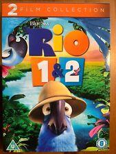 RIO / RIO 2 DVD 2 MOVIE FILM COLLECTION PART 1 + 2 Animated