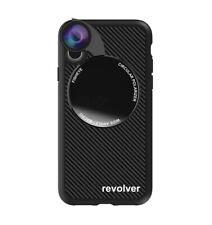 Coque iPhone X/Xs avec Revolver 4en1 - Texture - Noir Carbone - iPhone