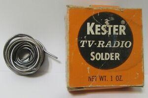 Vintage Kester TV - Radio Solder For Electrical Repair (6 Feet in Length)