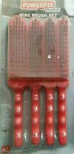 Powerfix Profi Wire Brush 4 Pack set 4 sizes. New