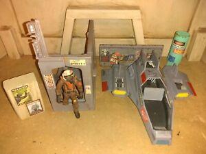 Custom star wars pilot w/ship 6 piece diorama Figure accessory 3.75 diorama lot