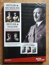 2DVD HITLER & MUSSOLINI / HITLER & STALINE - ULLRICH H. KASTEN - NEUF