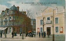 France Saint-Nazaire - Cafe Americain USA old postcard